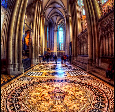 Inside the world-renowned Cologne Cathedral.Photo via Flickr:Pedro Szekely