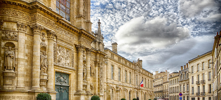 Bordeaux along River Garonne River within Gironde region of France. Photo via Flickr:Jean Balczesak