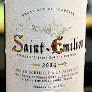 Delicious wine from the vineyards in Saint Emilion, Aquitaine, France. Photo via Flickr:partylin