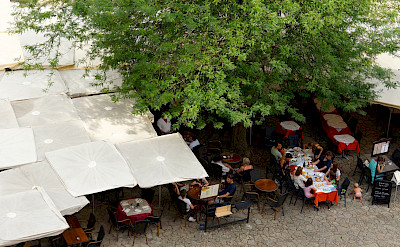 Dining in Saint-Émilion, a UNESCO World Heritage Site in southwestern France. Flickr:Marcus Hansson