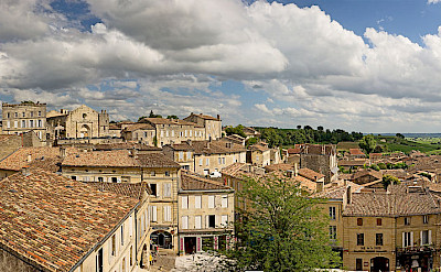 The characteristic orange tiles of Saint-Émilion, France. CC:Didierdescouens