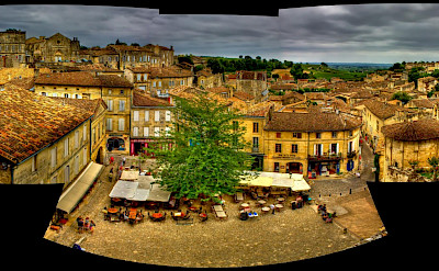 Pano of Saint-Émilion in Gironde depart in Aquitaine, France. Flickr:Bob Familiar