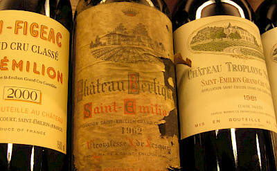 Tasty wines in Saint-Émilion, a UNESCO World Heritage Site in southwestern France. Flickr:Cyril Doussin