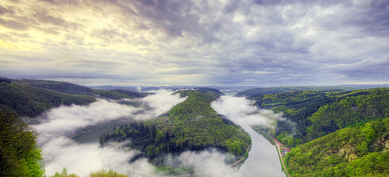 Saar River near Merzig, Germany. Photo via Flickr:Wolfgang Staudt