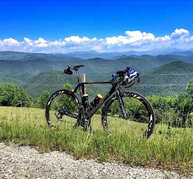 View of the Pyrenees from the bike. Photo courtesy of Tour Operator.