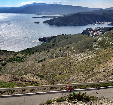 Biking near Portbou, Spain. Photo courtesy of Tour Operator.