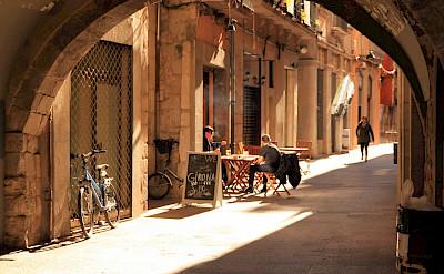Cafe in Girona, Catalonia, Spain. Flickr:muffinn