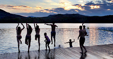 Swimming in the lake in Girona, Spain. Photo courtesy of Tour Operator.