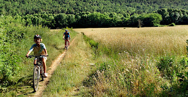 Mountain biking with the kids near Girona, Spain. Photo courtesy of Tour Operator.