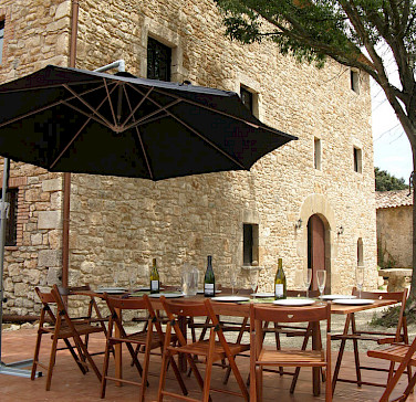 Outdoor patio at Mas Peligri. Photo courtesy of Tour Operator.