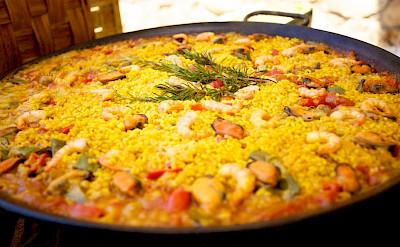 Paella is a Spanish tradition! Flickr:Jonathan Pincas