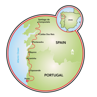 Camino de Santiago E-Bike Tour Map