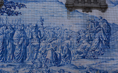 Beautiful ceramic tiles on Carmo Church, Porto, Portugal. Photo via Flickr:Pug Girl