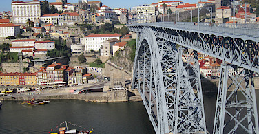 Bridge over the River Duoro, Porto, Portugal. Photo via Flickr:Pepe Martin