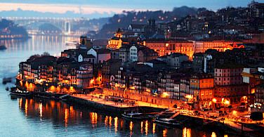 Porto on the Douro River, Portugal. Photo via Flickr:Rui Bittencourt