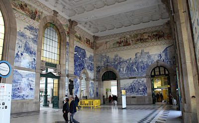 Train station also tiled in Porto, Portugal. Photo via Flickr:Rick Ligthelm