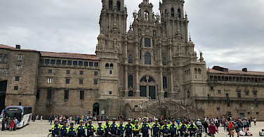 TripSite group in front of the Cathedral of Santiago de Compostela in Spain. Photo courtesy of Ermelindo Rezende.