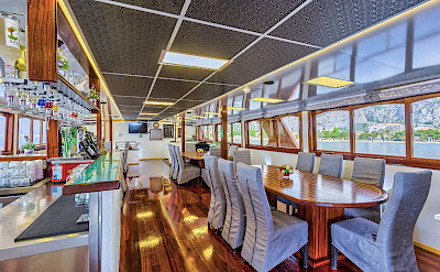 Bar/Dining Room on the Melody - Bike & Boat Tours