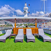 Sun Deck on the Melody - Bike & Boat Tours