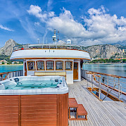 Hot Tub & Bridge on the Melody - Bike & Boat Tours