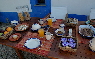 A biker's breakfast! Alentejo, Portugal. Photo courtesy of TO