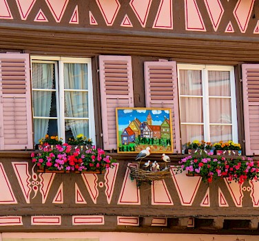Gorgeous facades in Colmar, Alsace, France. Photo via Flickr:Kiefer