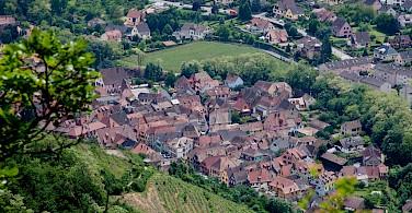 Overlooking Ribeauville, Alsace, France. Photo via Flickr:Allan Harris