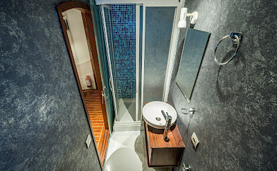 Bathroom | Love Boat | Bike & Boat Tours