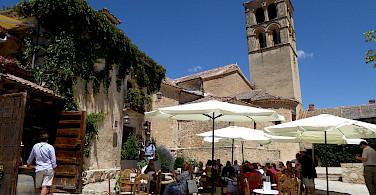 Bike rest at the cafe in Pedraza, Segovia, Spain. Flickr:Chucacimas