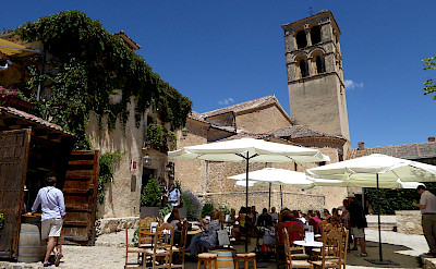 Bike rest at the cafe in Pedraza, Segovia, Spain. Flickr:Chucacimas
