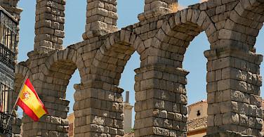 Old Roman Aqueduct in Segovia, Spain. Flickr:Juan Saez