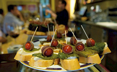 Great tapas to be had on this bike tour in Segovia, Spain. Flickr:PromoMadrid