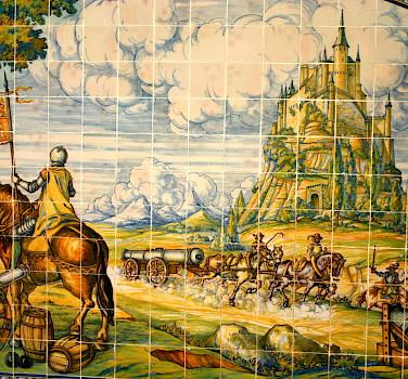 Wall tiles of Alcázar Castle, Segovia, Spain. Wikipedia Commons:Frank Kovalchek