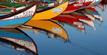 A bike tour with boats! Aveiro, Portugal. Photo via Flickr:Rosino