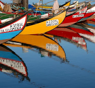A bike tour with boats! Aveiro, Portugal. Photo via Flickr:Rosino