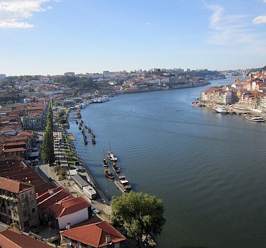 Douro River running through Porto, Portugal. Photo via Flickr:Pepe Martin