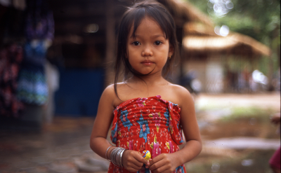 Little girl in Angkor Thom, Cambodia. Photo via Flickr:totalitarism