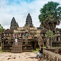 Exploring at Angkor Wat in Siem Reap, Cambodia. Photo via Flickr:Xiquinho Silva