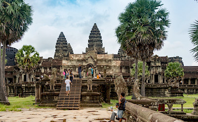 Exploring at Angkor Wat in Siem Reap, Cambodia. Photo via Flickr:Xiquinho Silva
