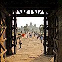 Exploring the temples at Angkor Wat, Siem Reap, Cambodia. Photo via Flickr:Jerome Yewdalll