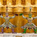 Decorative statues in Bangkok, Thailand. Photo via Flickr:Xiquinho Silva