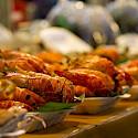 BBQ prawns in Rayong, Thailand. Photo via Flickr:Johan Fantenberg