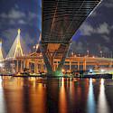 Bhumibol Bridge in Bangkok, Thailand. Photo via Flickr:Mike Behnken