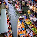 Damnoen Saduak Floating Market near Bangkok, Thailand. Photo via Flickr:Travellers travel photobook