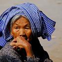 Traditional 'krama' headdress in Kampong Thom, Vietnam. Photo via Flickr:BMR & MAM