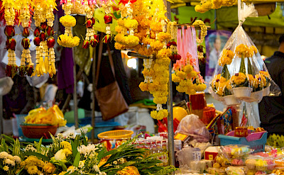 Garlands for sale in Rayong, Thailand. Photo via Flickr:Johan Fantenberg
