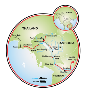 Saigon to Bangkok Map