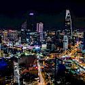 Night lights in Saigon, Vietnam. Photo via Flickr:Jim Chen
