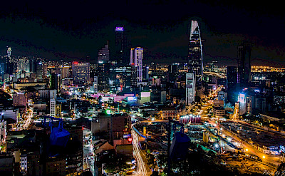 Night lights in Saigon, Vietnam. Photo via Flickr:Jim Chen