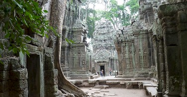 Made famous by Tomb Raider is the temple of Ta Prohm, Angkor Wat, Siem Reap Province, Cambodia. Photo via Flickr:Photo Dharma